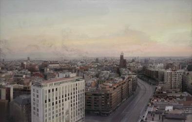 Antonio Lopez_Madrid desde Torres Blancas_1976 a 1982